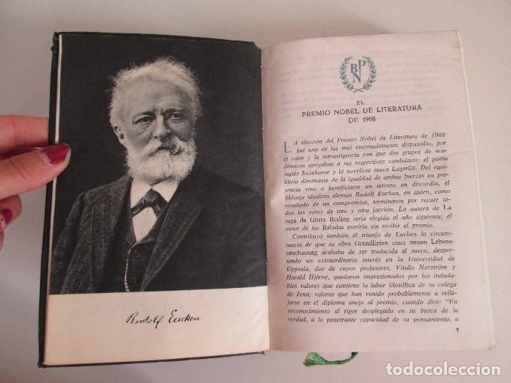 Libros de segunda mano: RUDOLF CHRISTOPH EUCKEN. OBRAS ESCOGIDAS. LOS GRANDES PENSADORES: SU TEORIA EN LA VIDA..AGUILAR 1957 - Foto 8 - 127979331
