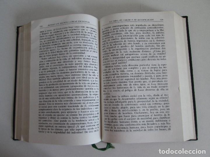 Libros de segunda mano: RUDOLF CHRISTOPH EUCKEN. OBRAS ESCOGIDAS. LOS GRANDES PENSADORES: SU TEORIA EN LA VIDA..AGUILAR 1957 - Foto 11 - 127979331