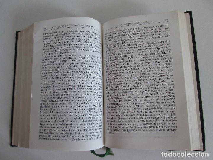 Libros de segunda mano: RUDOLF CHRISTOPH EUCKEN. OBRAS ESCOGIDAS. LOS GRANDES PENSADORES: SU TEORIA EN LA VIDA..AGUILAR 1957 - Foto 12 - 127979331