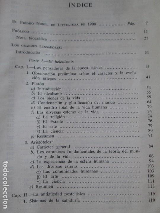 Libros de segunda mano: RUDOLF CHRISTOPH EUCKEN. OBRAS ESCOGIDAS. LOS GRANDES PENSADORES: SU TEORIA EN LA VIDA..AGUILAR 1957 - Foto 13 - 127979331