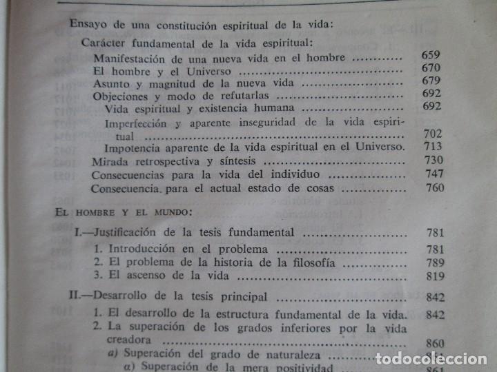 Libros de segunda mano: RUDOLF CHRISTOPH EUCKEN. OBRAS ESCOGIDAS. LOS GRANDES PENSADORES: SU TEORIA EN LA VIDA..AGUILAR 1957 - Foto 20 - 127979331