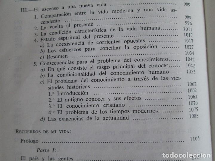 Libros de segunda mano: RUDOLF CHRISTOPH EUCKEN. OBRAS ESCOGIDAS. LOS GRANDES PENSADORES: SU TEORIA EN LA VIDA..AGUILAR 1957 - Foto 22 - 127979331
