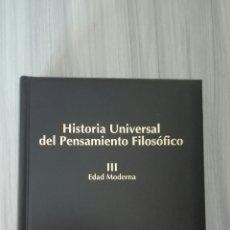 Libros de segunda mano: HISTORIA UNIVERSAL DEL PENSAMIENTO FILOSÓFICO. VV.AA.. Lote 128086116