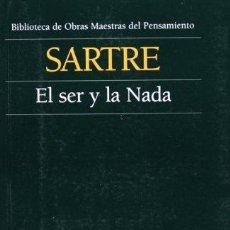 Libros de segunda mano: EL SER Y LA NADA. - SARTRE,JEAN PAUL.. Lote 128844491