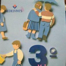 Libros de segunda mano: 3º VALORES. EDELVIVES. 1993. Lote 129701907