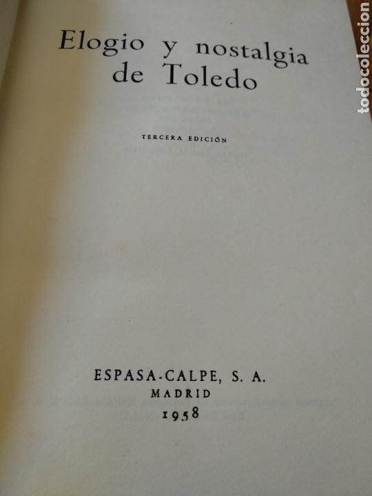 Libros de segunda mano: Elogio y nostalgia de Toledo, G. Marañón - Foto 6 - 130233759