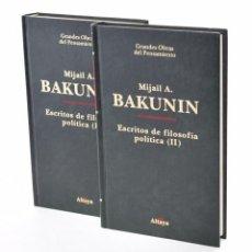 Libros de segunda mano: ESCRITOS DE FILOSOFÍA POLÍTICA (I Y II) - BAKUNIN, MIJAIL A.. Lote 130493983