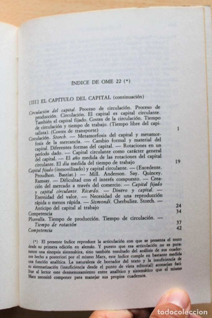 Libros de segunda mano: Karl Marx - Líneas fundamentales de la crítica de la economía política (Grundrisse) Segunda mitad - Foto 5 - 130566434
