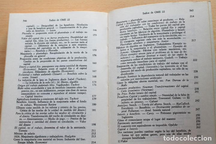 Libros de segunda mano: Karl Marx - Líneas fundamentales de la crítica de la economía política (Grundrisse) Segunda mitad - Foto 7 - 130566434