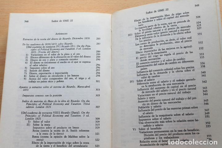 Libros de segunda mano: Karl Marx - Líneas fundamentales de la crítica de la economía política (Grundrisse) Segunda mitad - Foto 8 - 130566434