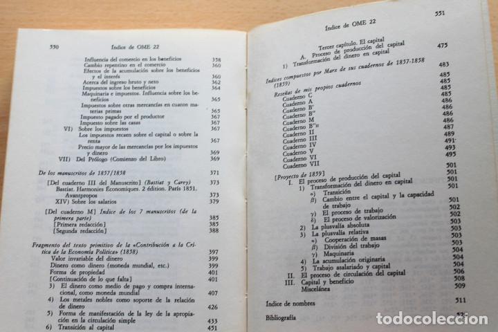 Libros de segunda mano: Karl Marx - Líneas fundamentales de la crítica de la economía política (Grundrisse) Segunda mitad - Foto 9 - 130566434
