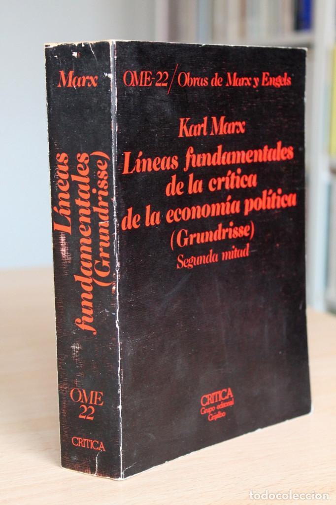 Libros de segunda mano: Karl Marx - Líneas fundamentales de la crítica de la economía política (Grundrisse) Segunda mitad - Foto 10 - 130566434