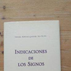 Libros de segunda mano: INDICACIONES DE LOS SIGNOS. Lote 130782900