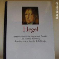 Libri di seconda mano: DIFERENCIA ENTRE LOS SISTEMAS DE FILOSOFÍA DE FICHTE Y SCHELLING, HEGEL. RBA GREDOS 2015. Lote 131586030