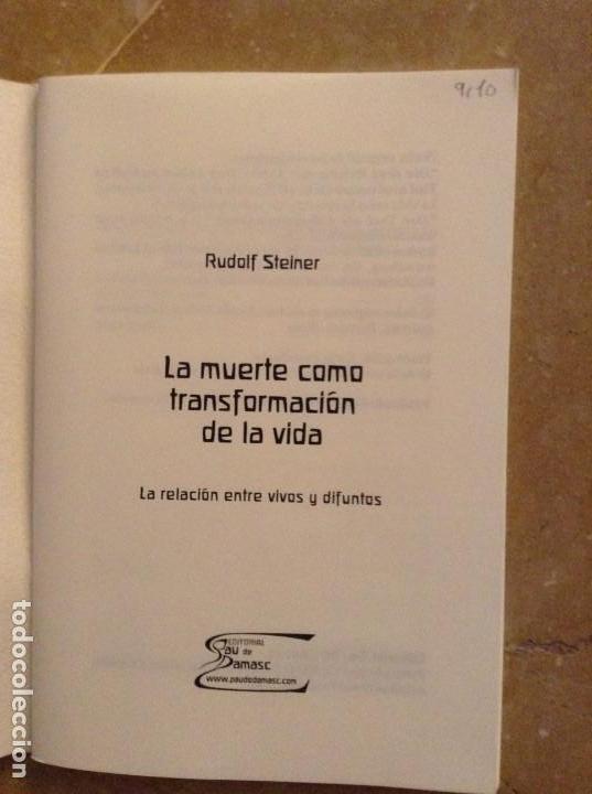 Libros de segunda mano: LA MUERTE COMO TRANSFORMACIÓN DE LA VIDA (RUDOLF STEINER) - Foto 2 - 131804506