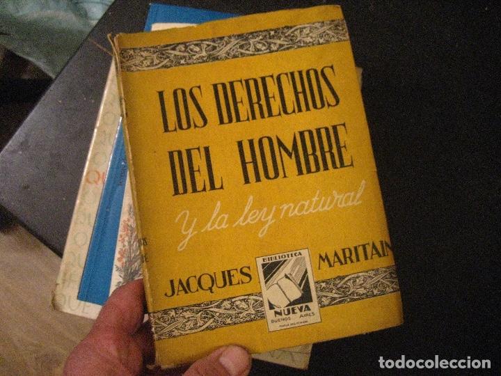 LOS DERECHOS DEL HOMBRE JACQUES MARITAIN (Libros de Segunda Mano - Pensamiento - Filosofía)