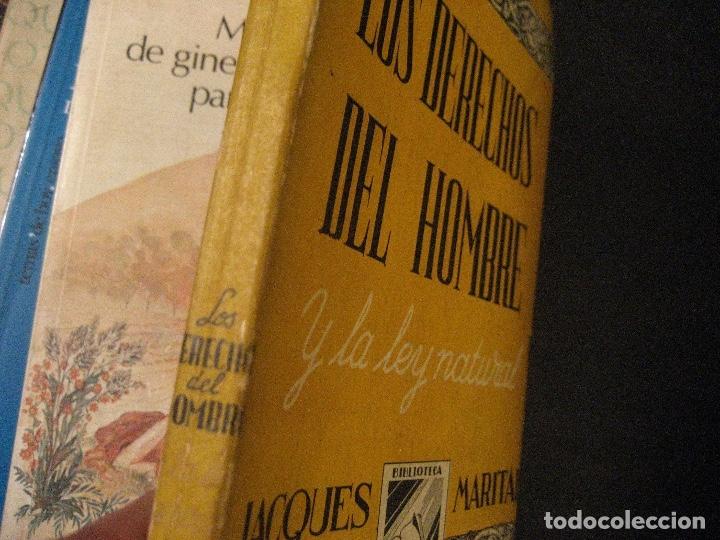 Libros de segunda mano: LOS DERECHOS DEL HOMBRE JACQUES MARITAIN - Foto 2 - 131886202