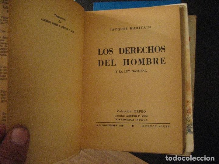 Libros de segunda mano: LOS DERECHOS DEL HOMBRE JACQUES MARITAIN - Foto 3 - 131886202