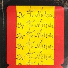 Libros de segunda mano: HENRI LEFEBVRE. NIETZSCHE. MÉXICO, 1972. EDICIÓN NUMERADA.. Lote 132212174