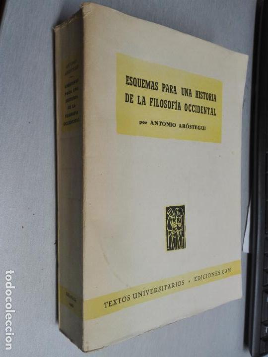 ESQUEMAS PARA UNA HISTORIA DE LA FILOSOFÍA OCCIDENTAL / ANTONIO ARÓSTEGUI / EDICIONES CAM 1953 (Libros de Segunda Mano - Pensamiento - Filosofía)