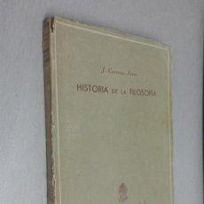 Libros de segunda mano: HISTORIA DE LA FILOSOFÍA / J. CARRERAS ARTAU / EDICIONES ALMA MATER 1949. Lote 132367290