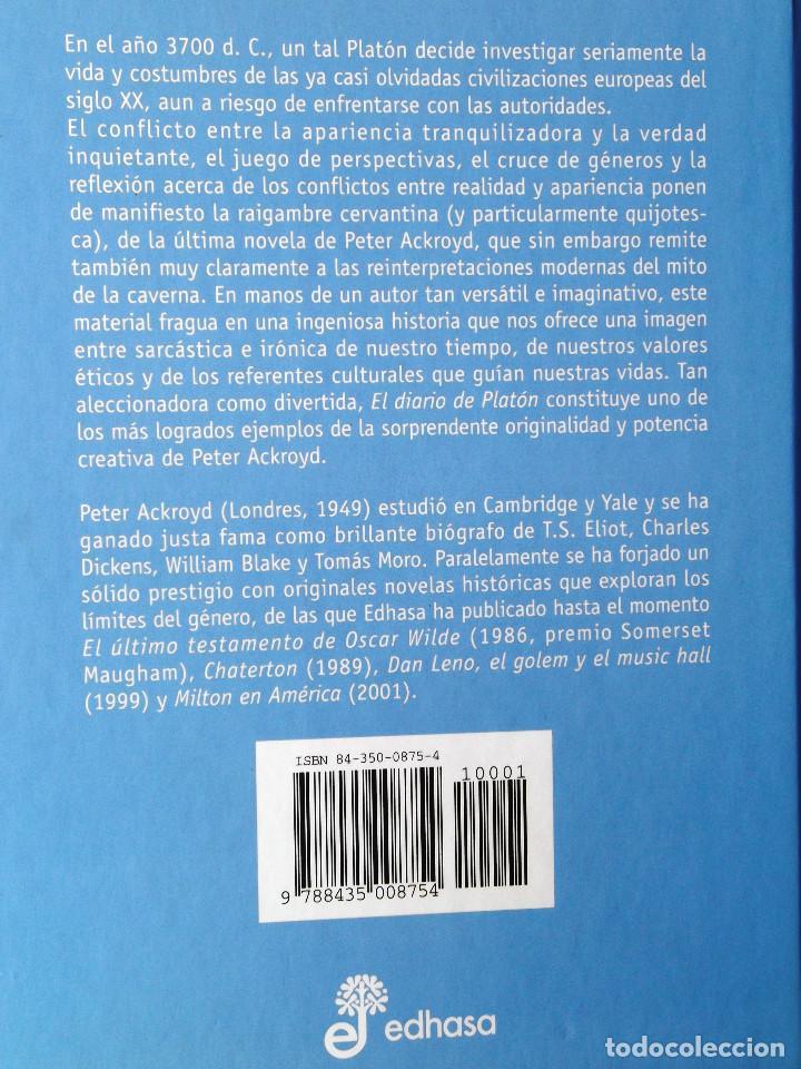 Libros de segunda mano: El diario de Platón. Peter Ackroyd. - Foto 2 - 132670990