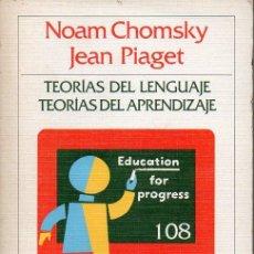Libros de segunda mano: CHOMSKY Y PIAGET : TEORÍAS DEL LENGUAJE Y DEL APRENDIZAJE (CRÍTICA, 1983). Lote 132732622