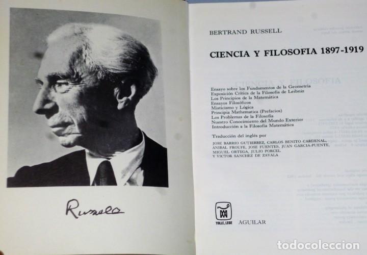 Libros de segunda mano: OBRAS COMPLETAS DE BERTRAND RUSSELL. TOMO II.- CIENCIA Y FILOSOFÍA 1897-1919 - Foto 2 - 132744094