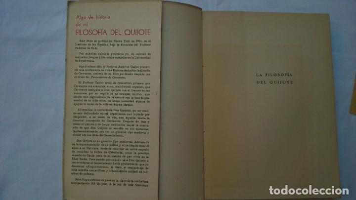 Libros de segunda mano: La filosofía del Quijote. 1953. David Rubio - Foto 3 - 132840366