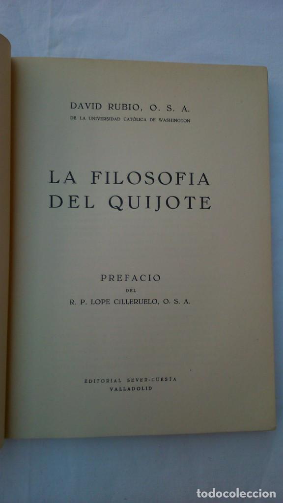 Libros de segunda mano: La filosofía del Quijote. 1953. David Rubio - Foto 4 - 132840366