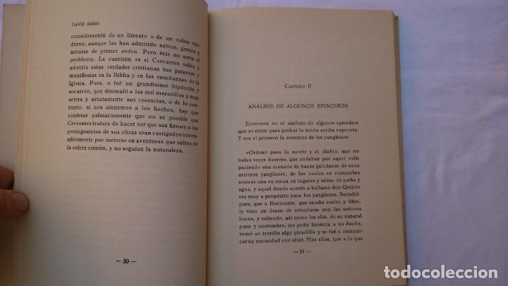 Libros de segunda mano: La filosofía del Quijote. 1953. David Rubio - Foto 7 - 132840366