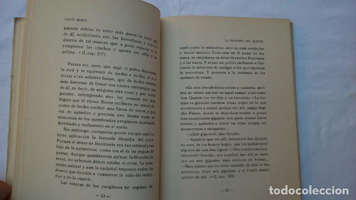 Libros de segunda mano: La filosofía del Quijote. 1953. David Rubio - Foto 8 - 132840366