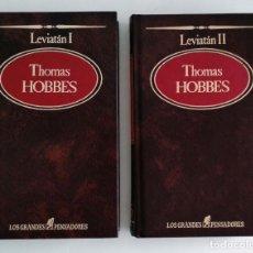 Livros em segunda mão: LEVIATAN. THOMAS HOBBES. 2 TOMOS. SARPE. LOS GRANDES PENSADORES. Lote 133206298