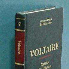 Libros de segunda mano: CARTAS FILOSÓFICAS. VOLTAIRE. Lote 133247470