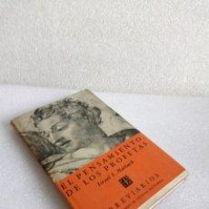 Libros de segunda mano: EL PENSAMIENTO DE LOS PROFETAS ISRAEL I. MATTUCK BREVIARIOS FONDO CULTURA ECONOMICA 1ª ED 1962. Lote 133747114