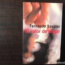 Libros de segunda mano: EL VALOR DE ELEGIR. FERNANDO SAVATER. Lote 180250618
