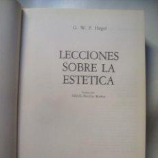 Libros de segunda mano: G. W. F. HEGEL - LECCIONES SOBRE LA ESTÉTICA (AKAL, ARTE Y ESTÉTICA, 1989).. Lote 134978130