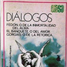 Libros de segunda mano: DIÁLOGOS. PLATÓN. . Lote 135922306