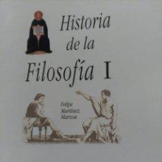 Libros de segunda mano: HISTORIA DE LA FILOSOFÍA I, MARZOA, 2010. Lote 136146482