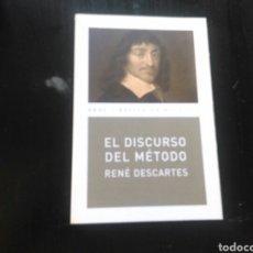 Libros de segunda mano: LIBRO EL DISCURSO DEL METODO DE RENE DESCARTES ED AKAL. Lote 136846112