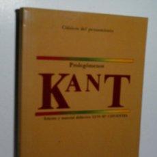 Libros de segunda mano: PROLEGÓMENOS A TODA METAFÍSICA FUTURA QUE QUIERA PRESENTARSE COMO CIENCIA. KANT. 1987. Lote 137909822
