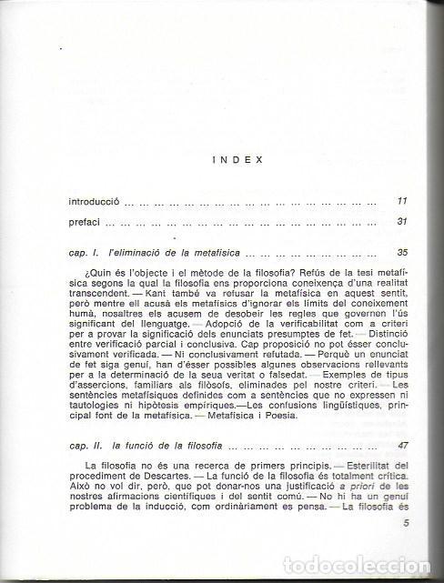Libros de segunda mano: Llenguatge, veritat i lògica / A.J. Ayer. València : Garbí, 1969. 22x17cm. 164 p. - Foto 2 - 138959058
