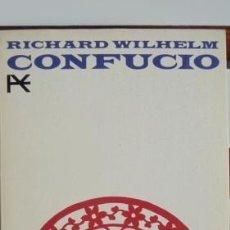 Libros de segunda mano: CONFUCIO. RICHARD WILHELM. Lote 141340814