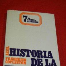 Libros de segunda mano: HISTORIA DE LA FILOSOFIA 7: DE FICHTE A NIETZSCHE, DE FREDERICK COPLESTON - ED.ARIEL 1978. Lote 142177810