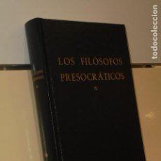 Libros de segunda mano - LOS FILOSOFOS PRESOCRATICOS III BIBLIOTECA CLASICA GREDOS - 142711934