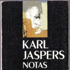 Libros de segunda mano: M - NOTAS SOBRE MARTIN HEIDEGGER - KARL JASPERS - 1990. Lote 142772130