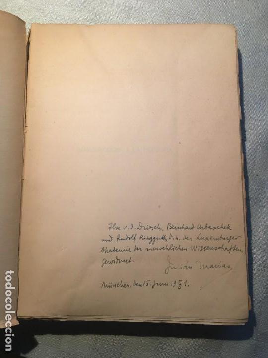 Libros de segunda mano: Julián Marías. Introducción a la filosofía. Dedicatoria del autor - Foto 2 - 143086978