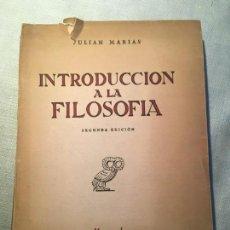 Libros de segunda mano: JULIÁN MARÍAS. INTRODUCCIÓN A LA FILOSOFÍA. DEDICATORIA DEL AUTOR. Lote 143086978