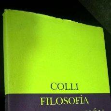 Libros de segunda mano: FILOSOFIA DE LA EXPRESION. COLLI. SIRUELA BIBLIOTECA DE ENSAYO 1996. . Lote 143806270