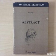 Libros de segunda mano: ABSTRACT - DAVID HUME. Lote 144532830